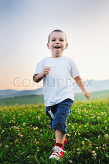 happy child have fun outdoor
