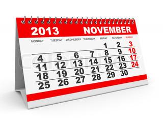 Calendar November 2013.
