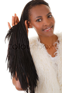 Young black african woman with long rasta hair
