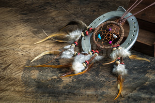 Leather dream catcher