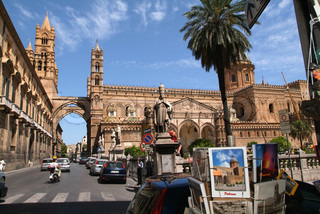 The cathedral at Palermo on the island of Sicily, Italy