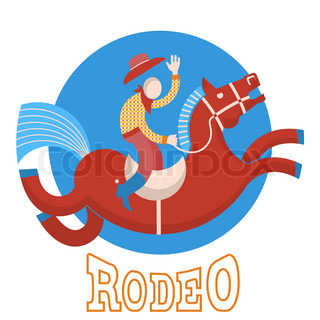 Rodeo.Cowboy on horse