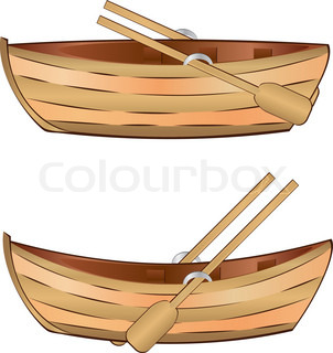 Wooden Boat With Shark Fin