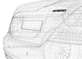 hybrid сar 3D model