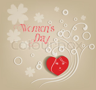 Women's day abstract background