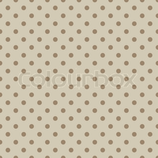 Seamless stylish beige dotted vector pattern.