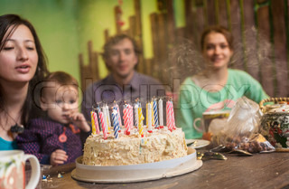Birthday - cake with candles