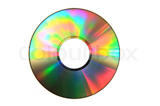 empty CD or DVD data disc