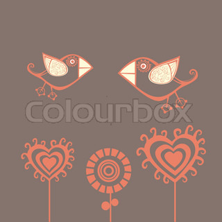 Floral background, summer theme, greeting card. Template design can be used for packaging,invitations, Valentine's Day decoration,bag template, print for packet, cup. Place your text in the frame