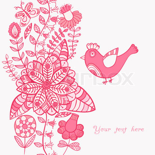 Floral background, summer theme, greeting card. Template design can be used for packaging,invitatio ns, Valentine's Day decoration,bag template, print for packet, cup. Place your text in the label