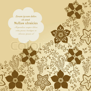 Floral background, spring theme, greeting card. Template design can be used for packaging,invitations, Valentine's Day decoration,bag template, print for packet, cup.