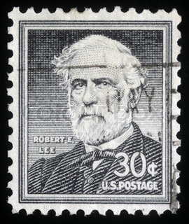 Stamp printed in the United States of America shows Robert E. Lee