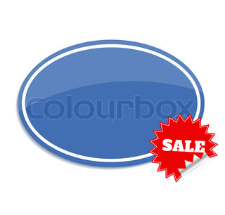 Sale label. Sticker isolated on white with sale text