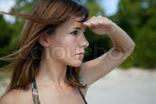 Woman looking into the distance
