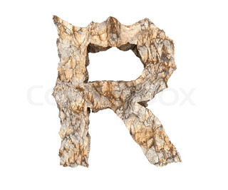 stone letter R