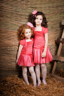 Two little girls, cute kids