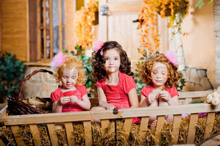 Three little girls, cute kids
