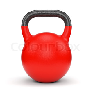Red weight kettle bell
