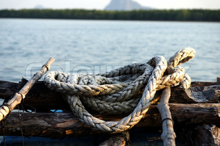 Rope in Oyster Farming, Thailand.