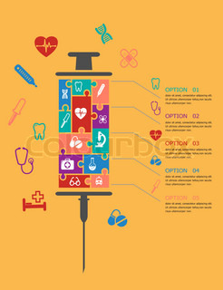 Medicine and healthcare infographic elements