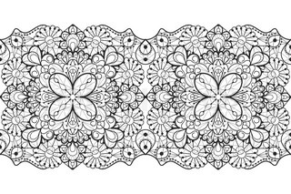 Set Of Seamless Lace Borders With Transparent Background Can Be