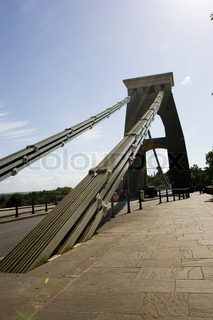 Clifton suspension bridge in England