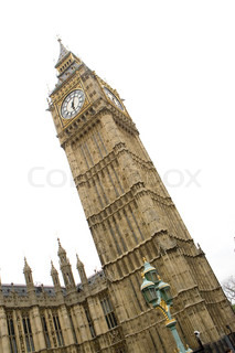 Slanting image of Big Ben