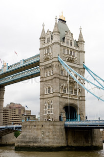 Cropped image of Tower Bridge in London