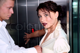 Image of 'sex, elevator, couple'