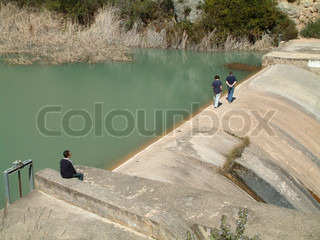 Image of 'hydro power, spain, person'