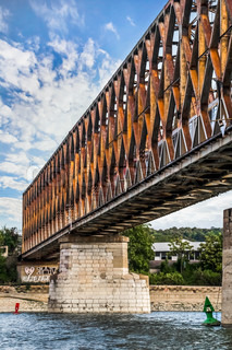 Belgrade's Old Railway Truss Bridge on Sava River - Serbia