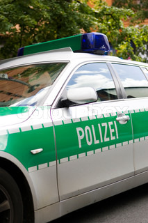 Cropped image of a german police car