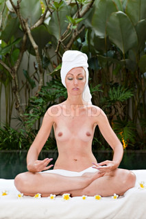 Young pretty woman in spa  centre on relaxation