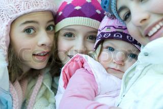 Image of 'winter, children, siblings'