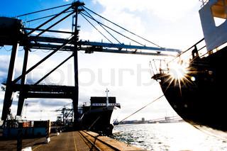 Container harbour in Aarhus, Denmark