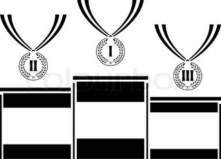 pedestal with medals