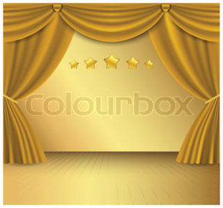 Gold curtain background.