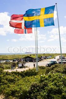 Bild von 'dänische Flagge, Skandinavier, Mensch'