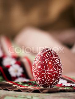 red bulgarian easter egg