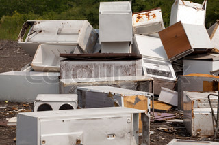 Appliances at the landfill