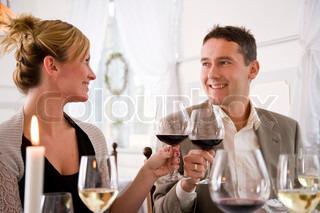Billede af 'restaurant, par, middag'