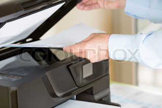 Man making a photocopy