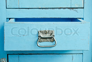 Wooden blue cabinet