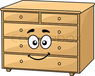 Cartoon Home Furniture Wordrobe Isolated on White Background ...