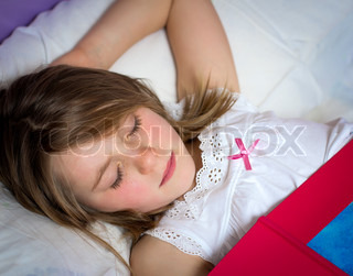 Little Girl Sleeping In Bed Royalty Free Stock Photos - Image ...