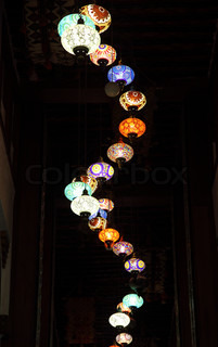 Traditional oriental lamps in Doha, Qatar, Middle East