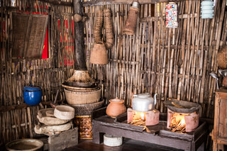 A Traditional Thai Style Kitchen Still Found In The Countryside Stock Photo Colourbox