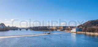 Prague, view of Bridges on Vltava