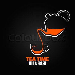 tea cup design menu backgraund