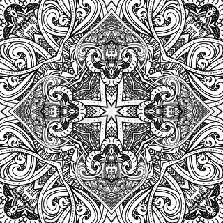 Black and white background. Abstract pattern, black and white texture, vector illustration, black and white graphic, lace design, fabric